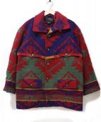 POLO COUNTRY(ポロカントリー)の古着「USA製ネイティブ柄ラグジャケット」|レッド