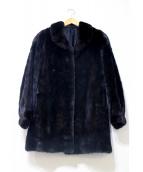 SAGA MINK ROYAL(サガミンク ロイヤル)の古着「シェアードミンクミドルコート」|ブラウン