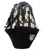 ebagos(エバゴス)の古着「シェニール織り×フェルト帽体バッグ」|ブラック