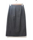 Leilian(レリアン)の古着「カシミヤ混ミディスカート」|グレー