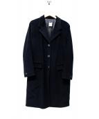 agnes b(アニエスベー)の古着「アンゴラ混ロングコート」|ブラック