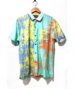 DOUBLE RAINBOUU(ダブルレインボー)の古着「ハワイアンシャツ」|ブルーベースマルチ