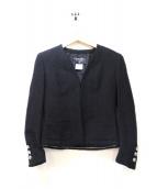 CHANEL(シャネル)の古着「コットンツイードセットアップスーツ」|ブラック