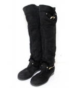 JIMMY CHOO(ジミーチュウ)の古着「ムートンロングブーツ」 ブラック
