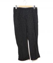 tricot COMME des GARCONS(トリコ コム デ ギャルソン)の古着「フラワーテーパードパンツ」 ブラック