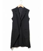 Ys(ワイズ)の古着「カットオフロングジレ」|ブラック