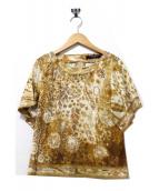 LEONARD FASHION(レオナールファッション)の古着「バックジップカットソーブラウス」|ブラウン