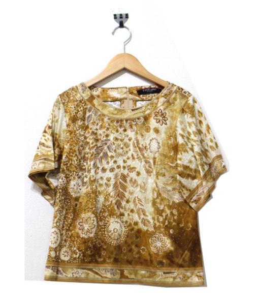 LEONARD FASHION(レオナールファッション)LEONARD FASHION (レオナールファッション) バックジップカットソーブラウス ブラウン サイズ:Mの古着・服飾アイテム
