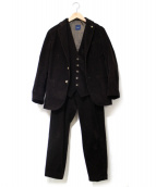 giannetto(ジャンネット)の古着「コーデュロイ3ピースセットアップスーツ」|ブラウン
