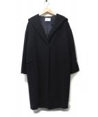 BLENHEIM(ブレンヘイム)の古着「ウールフーデッドコート」|ダークネイビー