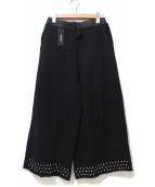 DIESEL(ディーゼル)の古着「スタッズスウェットガウチョパンツ」|ブラック