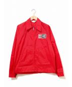 CHAMPION PLUG(チャンピオンプラグ)の古着「[古着]ジップアップレーシングコーチジャケット」|レッド