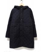 MACKINTOSH PHILOSOPHY(マッキントッシュフィロソフィー)の古着「フーデッドキルティングコート」|ネイビー