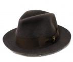 BORSALINO(ボルサリーノ)の古着「ミドルブリムフェルトハット」 ブラウン
