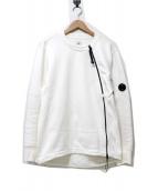C.P COMPANY(シーピーカンパニ)の古着「ジップデザインスウェット」|ホワイト
