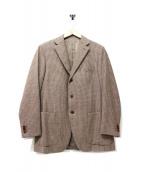 Cantarelli(カンタレリ)の古着「千鳥ツイードテーラードジャケット」|ブラウン