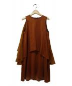 muller of yoshiokubo(ミュラーオブヨシオクボ)の古着「ノースリーブワンピース」|ブラウン
