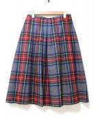 O'NEIL OF DUBLIN(オニールオブダブリン)の古着「タータンチェックソフトプリーツスカート」 レッド