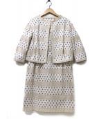 49AV junko shimada(ジュンコシマダ)の古着「アンサンブル・セットアップワンピース」|ホワイト×ベージュ