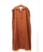 TICCA(ティッカ)の古着「ノースリーブリネンシャツワンピース」|ブラウン