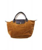 LONGCHAMP(ロンシャン)の古着「コーデュロイハンドバッグ」|ベージュ