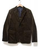 TOMORROW LAND(トゥモローランド)の古着「太畝コーデュロイテーラードジャケット」|ブラウン