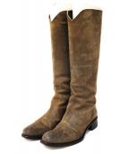 SARTORE(サルトル)の古着「スウェードジョッキーブーツ」 ブラウン