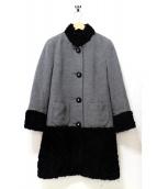 伊太利屋(イタリヤ)の古着「カシミヤ混コート」|グレー