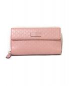 GUCCI(グッチ)の古着「長財布」|ピンク