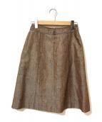 ()の古着「[OLD]シルクネップスカート」 ブラウン