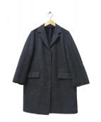 Traditional Weatherwear(トラディショナル ウェザーウェア)の古着「ボンディング加工ウールコート」|グレー