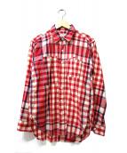 Engineered Garments(エンジニアードガーメンツ)の古着「山ポケチェックシャツ」 レッド