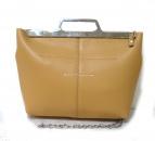 MM6(エムエムシックス)の古着「チェーンハンドバッグ」|ベージュ