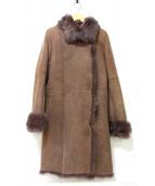 JOSEPH(ジョセフ)の古着「リアルムートンコート」|ブラウン