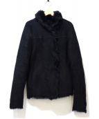 JOSEPH(ジョセフ)の古着「リアルムートンジャケット」|ブラック