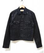 DENIM & SUPPLY RALPH LAUREN(デニムアンドサプライ ラルフローレン)の古着「ダーティー加工デニムジャケット」|ブラック