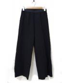 AP STUDIO(エーピーステゥディオ)の古着「TEXTEAM EASY PANTS」|ブラック