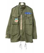 US ARMY(米軍)の古着「パッチカスタムM-65フィールドジャケット」|カーキ