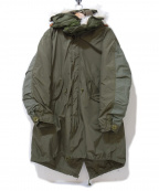 Sunny Sports(サニースポーツ)の古着「M-65フィッシュテールモッズコート」 カーキ