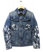 G-STAR RAW(ジースターロウ)の古着「ペイント加工デニムジャケット」|ブルー