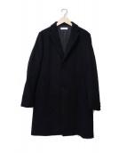 BEAUTY&YOUTH(ビューティーアンドユース)の古着「ソリッドメルトンチェスターコート」|ブラック