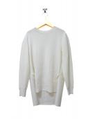 ADORE(アドーア)の古着「クリアストレッチ切替ブラウス」|ホワイト