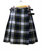 ONEIL OF DUBLIN(オニール オブ ダブリン)の古着「キルトタータンチェックスカート」|グリーン