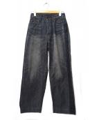 BRU NA BOINNE(ブルーナボイン)の古着「ダーティ加工マーチデニムパンツ」|ブラック