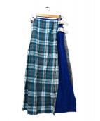 ONEIL OF DUBLIN(オニール オブ ダブリン)の古着「パッチワークラップスカート」 マルチカラー
