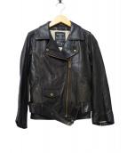 MAISON DE REEFUR(メゾンドリーファー)の古着「ダブルライダースジャケット」|ブラック