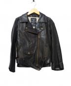MAISON DE REEFUR(メゾン ド リーファー)の古着「ダブルライダースジャケット」|ブラック