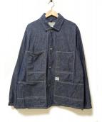 SASSAFRAS(ササフラス)の古着「トランスプラントジャケットシャンブレー」|ネイビー