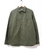 SASSAFRAS(ササフラス)の古着「スプレイヤーシャツ」|オリーブ