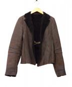 NEIL BARRETT(ニールバレット)の古着「ムートンジャケット」|ブラウン